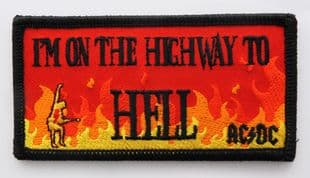 AC/DC - 'I'm on the Highway to Hell' Embroidered Sew-on Patch