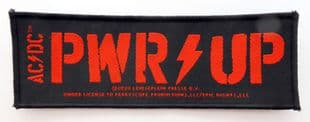 AC/DC - 'Pwr Up' Woven Strip Patch