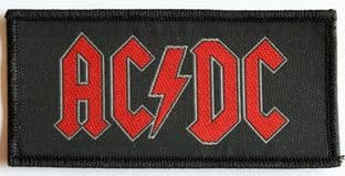 AC/DC - 'Red Logo' Woven Patch