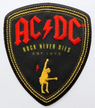 AC/DC - 'Rock Never Dies' Sew-on Patch