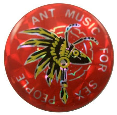 Adam and the Ants - 'Ant Music' Prismatic Button Badge
