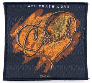 AFI - 'Crash Love Heart' Woven Patch