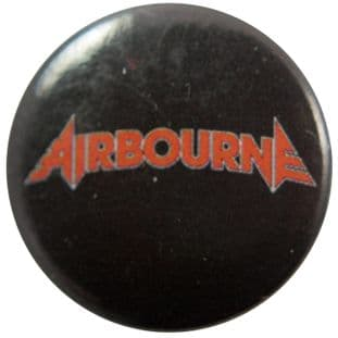 Airbourne - 'Logo Black' Button Badge