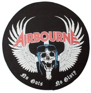Airbourne - 'No Guts No Glory' Round Backpatch