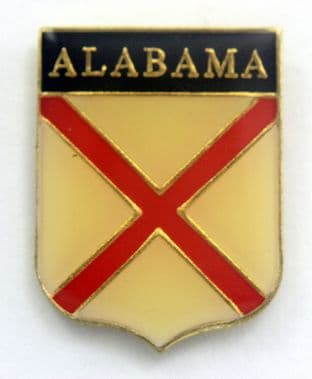 Alabama - 'State Flag' Vintage Enamel Badge