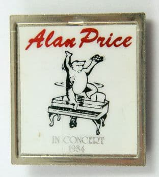 Alan Price - 'In Concert 1984' Lapel Badge