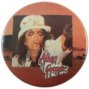 Alice Cooper - 'Alice Top Hat' Button Badge