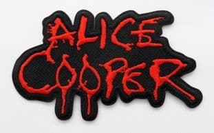 Alice Cooper - 'Red Logo' Embroidered Patch
