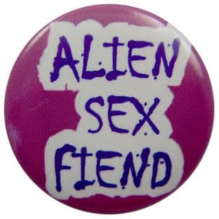 Alien Sex Fiend - 'Name Pink' Button Badge