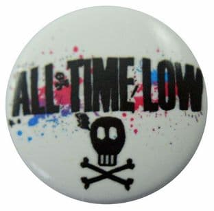 All Time Low - 'Skull' Button Badge