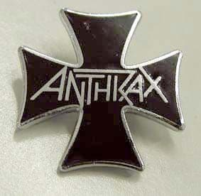 Anthrax - 'Cross' Vintage Enamel Badge