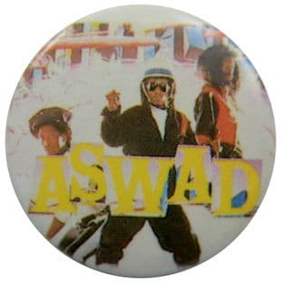 Aswad - 'Group White' Button Badge