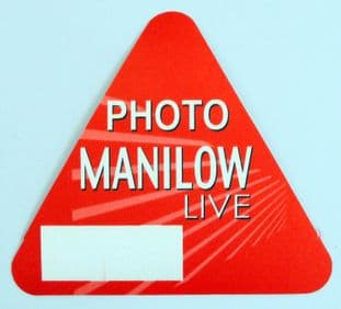 Barry Manilow 'Live Photo' Red OTTO Backstage Pass