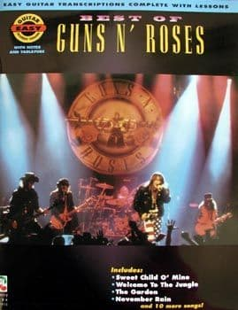 Best of Guns N'Roses 14 Tracks - Book