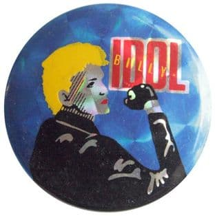 Billy Idol - 'Billy Blue' Prismatic Button Badge