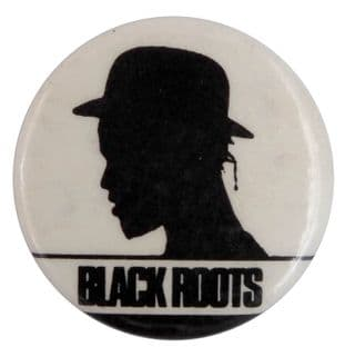 Black Roots - 'Silhouette' Button Badge