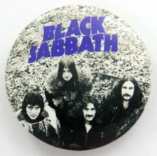 Black Sabbath - 'Group' Large Button Badge