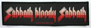 Black Sabbath - 'Sabbath Bloody Sabbath' Woven Strip Patch