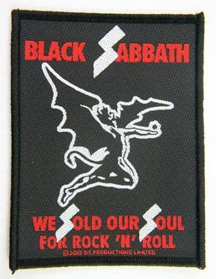 Black Sabbath - 'We Sold Our Soul For Rock 'N' Roll'  Woven Patch