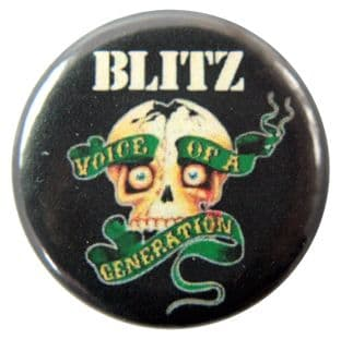 Blitz - 'Voice of a Generation' Button Badge