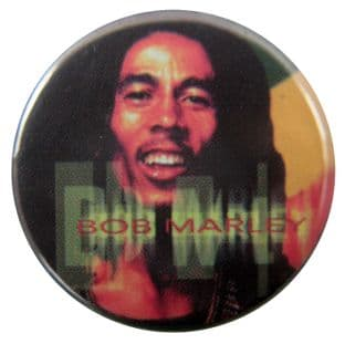 Bob Marley - 'Blurred Name' Button Badge