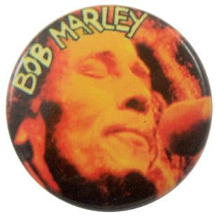 Bob Marley - 'Bob Close Up' Button Badge