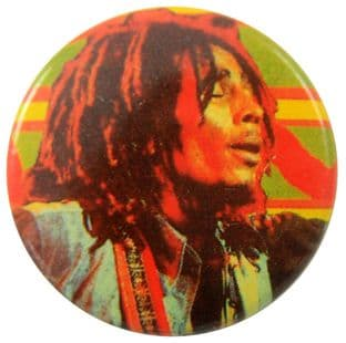 Bob Marley - 'Denim Shirt' Button Badge