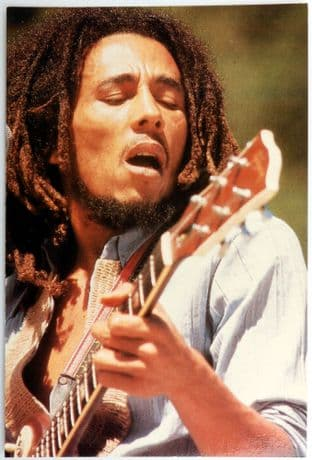 Bob Marley - 'Open Shirt' Postcard