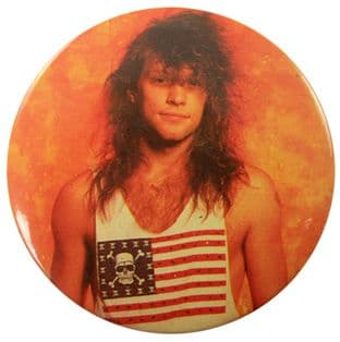 Bon Jovi - 'Jon Flag T.Shirt' 56mm Badge