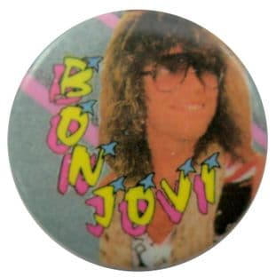 Bon Jovi - 'Jon Glasses' Button Badge