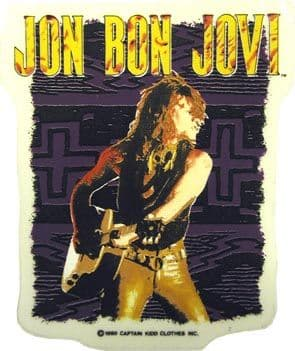 Bon Jovi - 'Jon Guitar' Sticker
