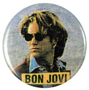 Bon Jovi - 'Jon Highway' Button Badge