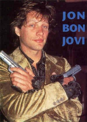 Bon Jovi - 'Jon with Guns' Postcard