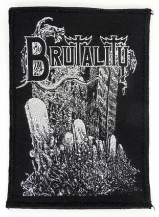 Brutality - 'Ruins of Human' Woven Patch