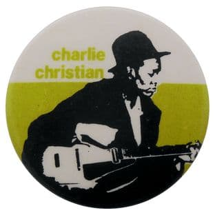 Charlie Christian - 'Guitar' Button Badge