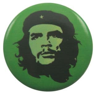 Che Guevara - 'Green' Button Badge