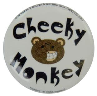 Cheeky Monkey - Button Badge