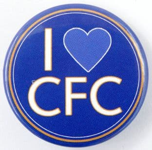 Chelsea F.C. - 'I Love CFC' Large Button Badge