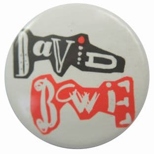 David Bowie - 'Name Cut-out' Button Badge