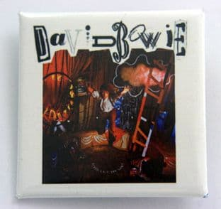 David Bowie - 'Never Let Me Down' Square Badge