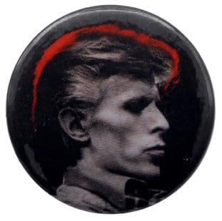 David Bowie - 'Red Glow' Button Badge