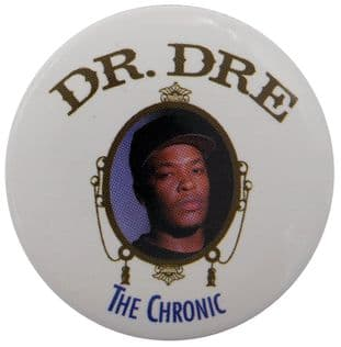Dr Dre - 'The Chronic' Large Button Badge