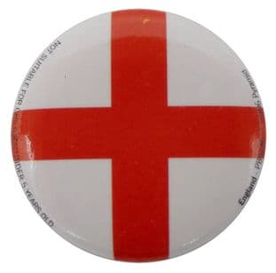England Flag - Button Badge