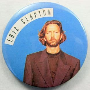 Eric Clapton - 'Blue Background' 56mm Badge