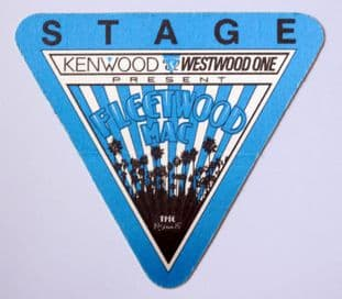 Fleetwood Mac '1987 Tango Tour - Blue' Vintage Backstage Pass