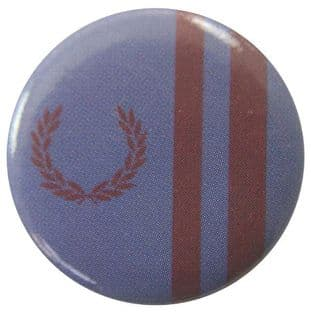 Fred Perry - 'Blue Purple Stripes' Button Badge