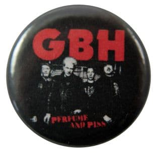 G.B.H. - 'Perfume and Piss' Button Badge