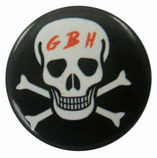 G.B.H. - 'Skull' Button Badge GBH