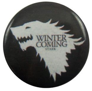 Game of Thrones - 'Winter is Coming' Button Badge