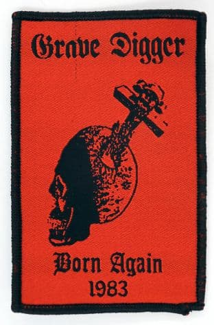 Grave Digger - 'Born Again 1983' Woven Patch